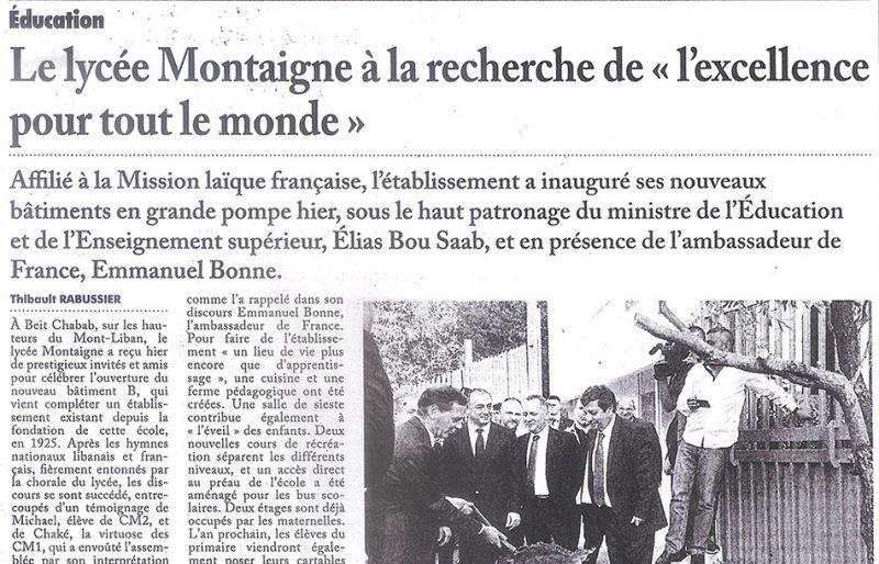 """Le lycée Montaigne à la Recherche de """"l'excellence pour tout le monde"""""""